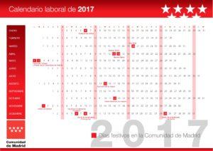 Área Calendario Laboral Comunidad Madrid 2017