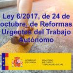 LA LEY REFORMAS URGENTES DEL TRABAJO AUTÓNOMO